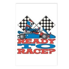 Ready to Race Go Kart Postcards (Package of 8)