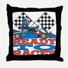 Ready to Race Go Kart Throw Pillow