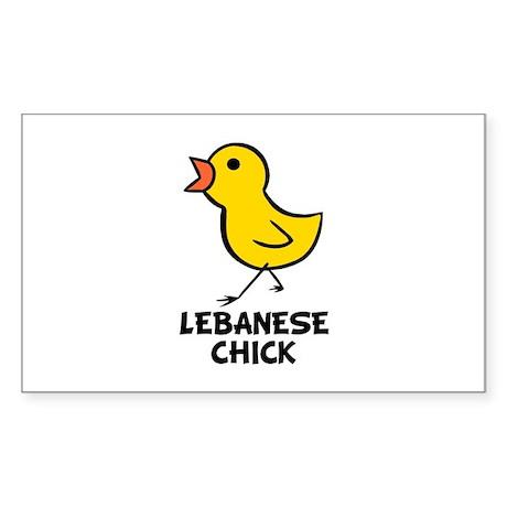 Lebanese Chick Rectangle Sticker
