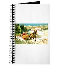 Christmas Winter Sled Journal