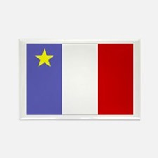 Acadian Flag Rectangle Magnet