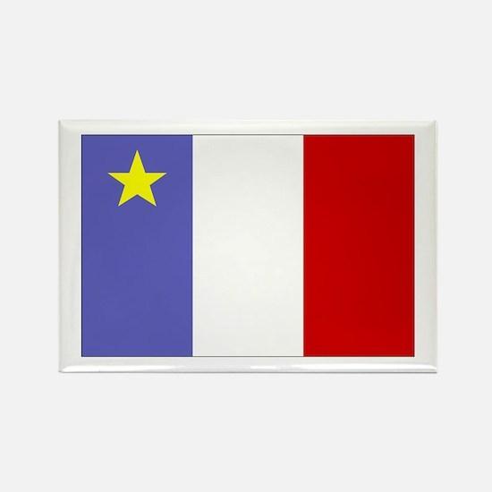 Acadian Flag Rectangle Magnet