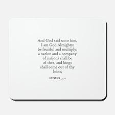 GENESIS  35:11 Mousepad