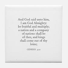 GENESIS  35:11 Tile Coaster