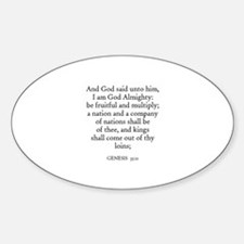 GENESIS 35:11 Oval Decal