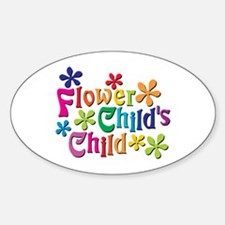 Flower Child's Child Oval Decal