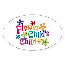 Flower Child's Child Oval Stickers