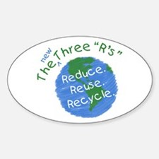 Reduce. Reuse. Recycle. Oval Decal