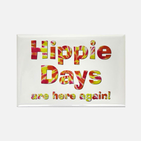 Hippie Days Rectangle Magnet