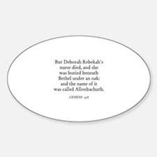 GENESIS 35:8 Oval Decal
