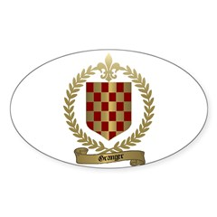 GRANGER Family Crest Oval Decal