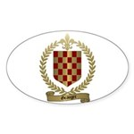 GRANGER Family Crest Oval Sticker