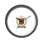 GRANGER Family Crest Wall Clock