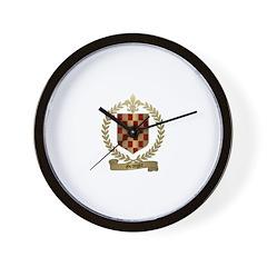 GRANGER Family Crest Wall Clock