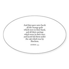 GENESIS 35:4 Oval Decal