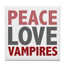 Peace Love Vampires Twilight Tile Coaster