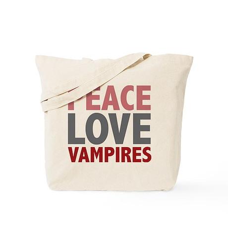Peace Love Vampires Twilight Tote Bag