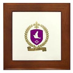 FRANCOIS Family Crest Framed Tile