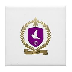 FRANCOIS Family Crest Tile Coaster