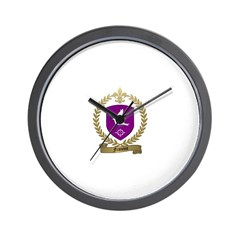 FRANCOIS Family Crest Wall Clock