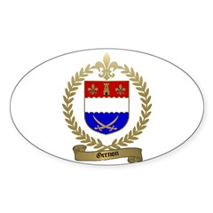 GRENON Family Crest Oval Decal