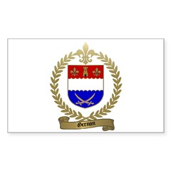 GRENON Family Crest Rectangle Decal
