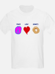 Peace Love & donuts T-Shirt