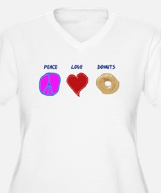 Peace Love & donuts T-Shirt