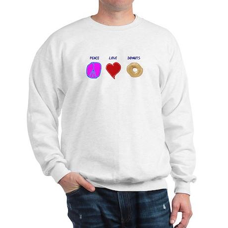 Peace Love & donuts Sweatshirt