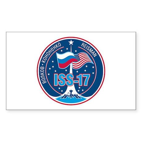 Expedition 17 Logo Sticker (Rectangle)