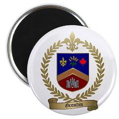 GRONDIN Family Crest Magnet