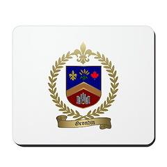 GRONDIN Family Crest Mousepad