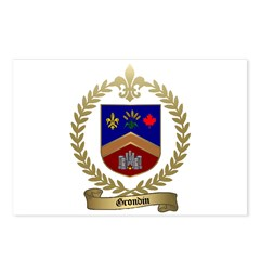 GRONDIN Family Crest Postcards (Package of 8)