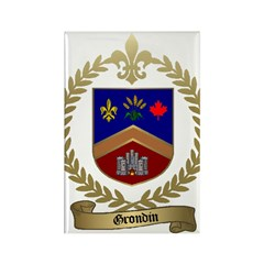 GRONDIN Family Crest Rectangle Magnet (100 pack)