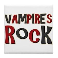 Vampires Rock Twilight Movie Tile Coaster