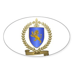 GUAY Family Crest Oval Decal