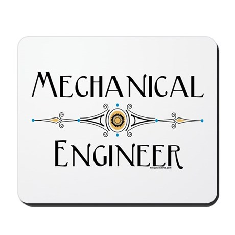 Mechanical Engineer Line Mousepad by not_just_shirts