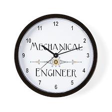 Mechanical Engineer Line Wall Clock