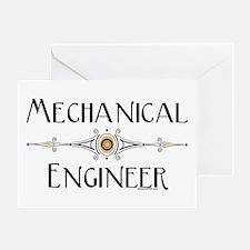 Mechanical Engineer Line Greeting Card