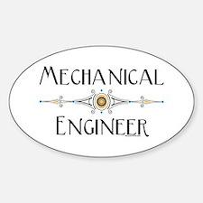 Mechanical Engineer Line Oval Decal