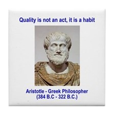 Aristotle Quality Tile Coaster