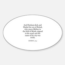 GENESIS 36:35 Oval Decal