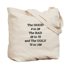 Good, Bad and Ugly Quote Tote Bag