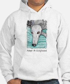 Greyhound Adoption Prayer Hoodie