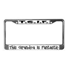 Fantastic Grandpa License Plate Frame