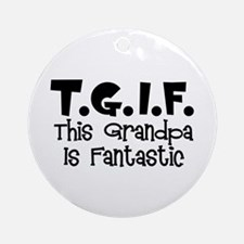 Fantastic Grandpa Ornament (Round)