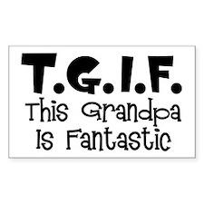 Fantastic Grandpa Rectangle Decal