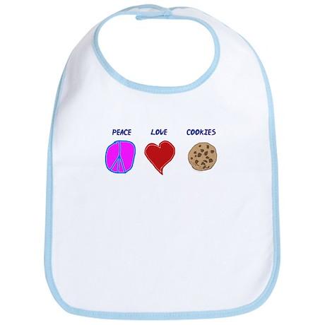 Peace Love & cookies Bib