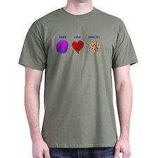 Peace Love & cookies T-Shirt