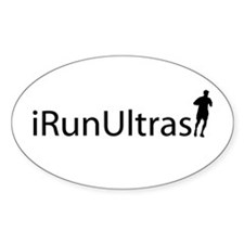 iRunUltras Oval Sticker (10 pk)